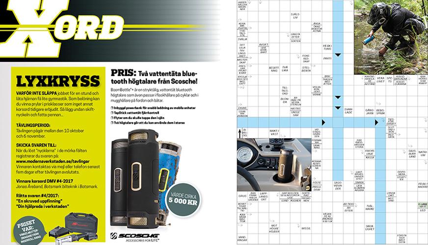 DMV Korsord | Vinn bluetooth-högtalare!