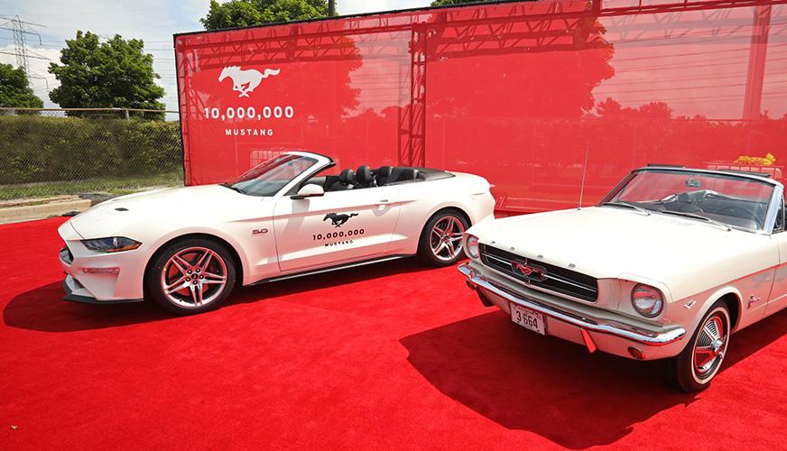 Mustang firar tio miljoner tillverkade bilar