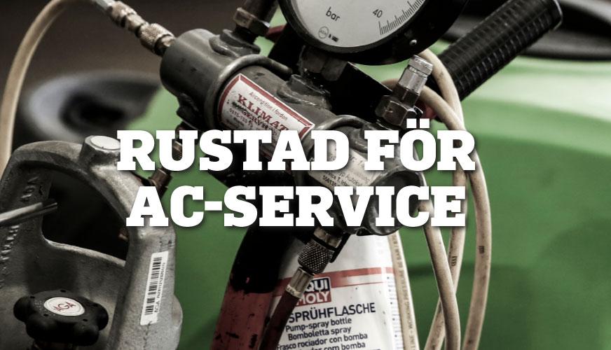 Rustad för AC-service