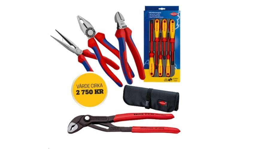 Vinn kvalitetsverktyg från Knipex!