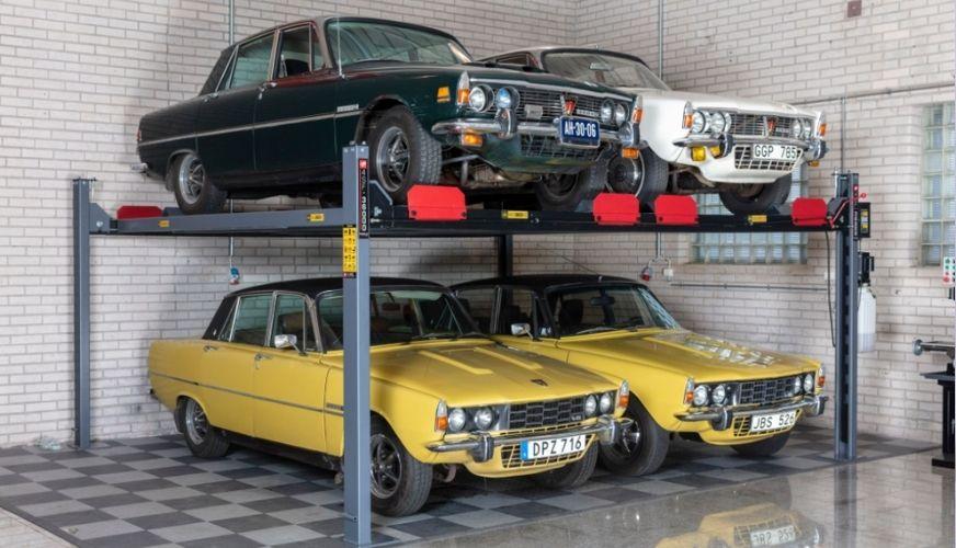 Två bilar i luften är bättre än fyra på golvet